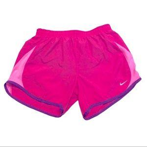 Nike Dri-Fit Tempo Running Shorts Girls Large Pink